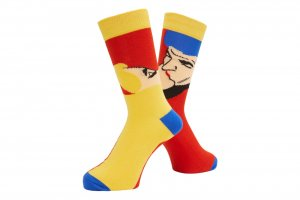 WHIMSY AFTERNOON DELIGHT SOCKS (RED)