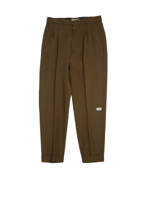 JieDa RAYON 2TUCK TAPERED PANTS (KHA)