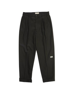 JieDa 2TUCK TAPERED PANTS (BLK)
