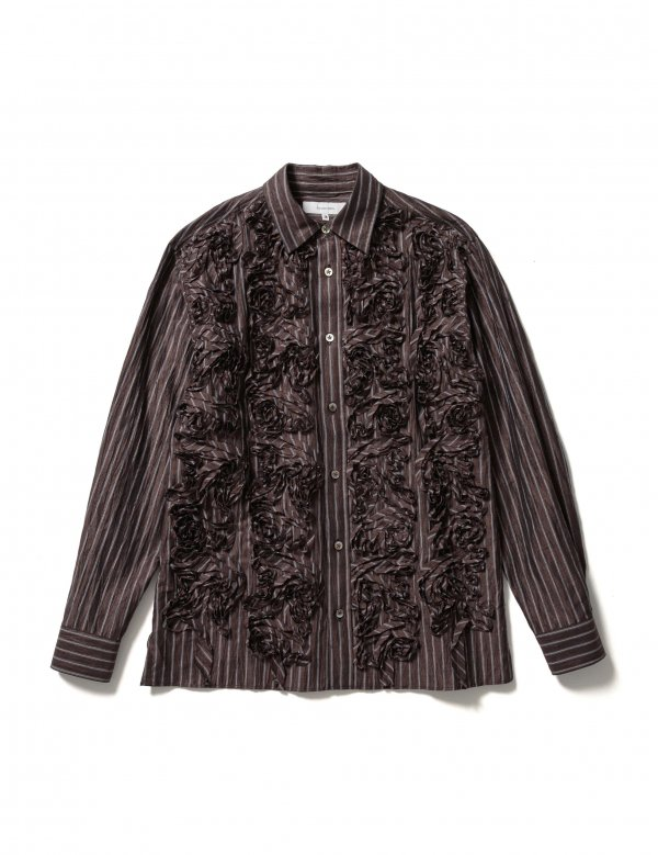 Sasquatchfabrix. TAPE EMBROIDERY L/S SHIRT (B/S)