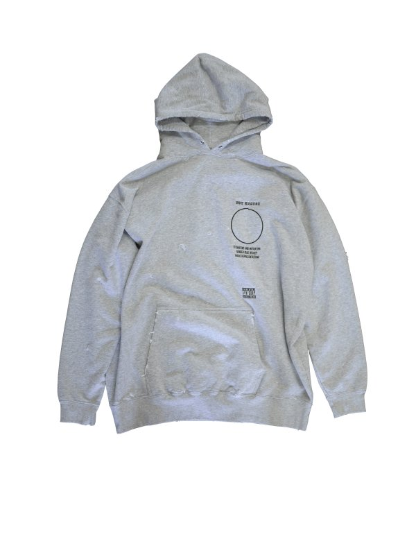 JieDa AGING DAMAGE NOT ENOUGH HOODIE (GRY)