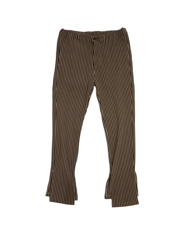 JieDa RIPPLE SLIT SLACKS (BEI)