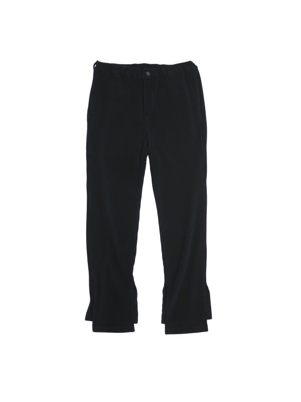 JieDa RIPPLE SLIT SLACKS (BLK)