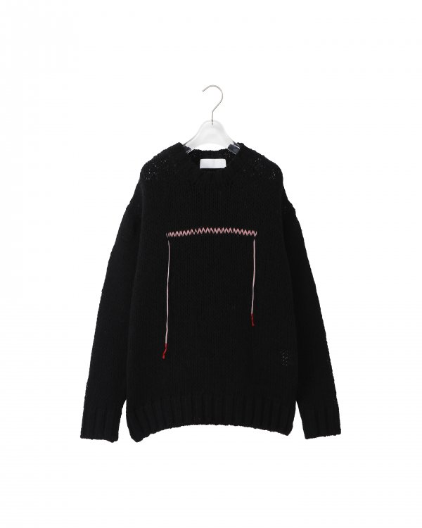 NEON SIGN Ne QUILTED SWEATER (BLK)