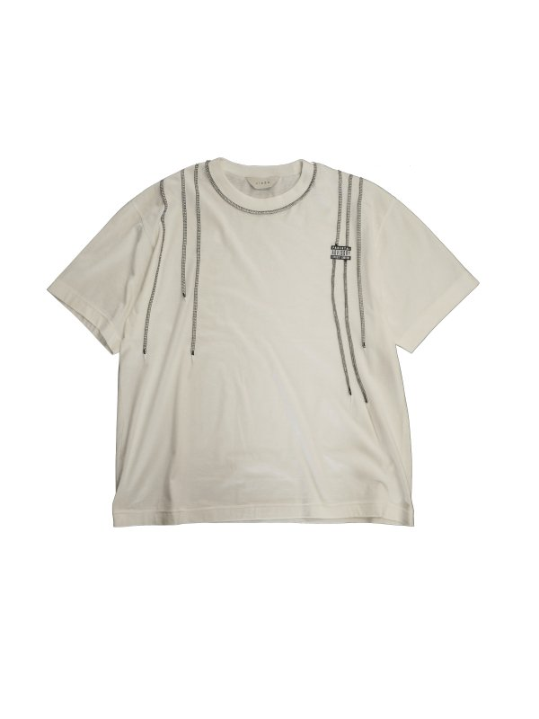 JieDa STITCH WORK T-SHIRT (WHT)
