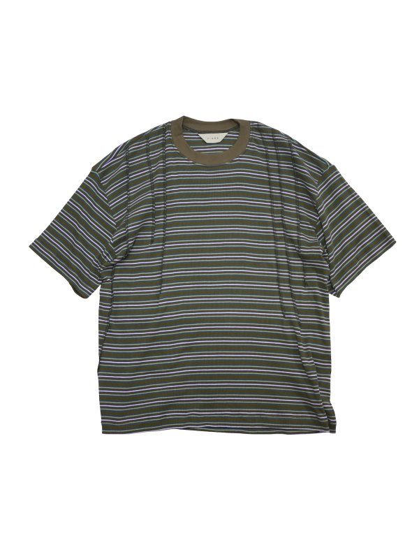 JieDa STITCH WORK BORDER TEE (BRO)