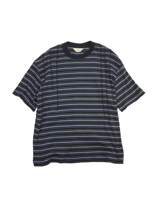 JieDa STITCH WORK BORDER TEE (BLK)