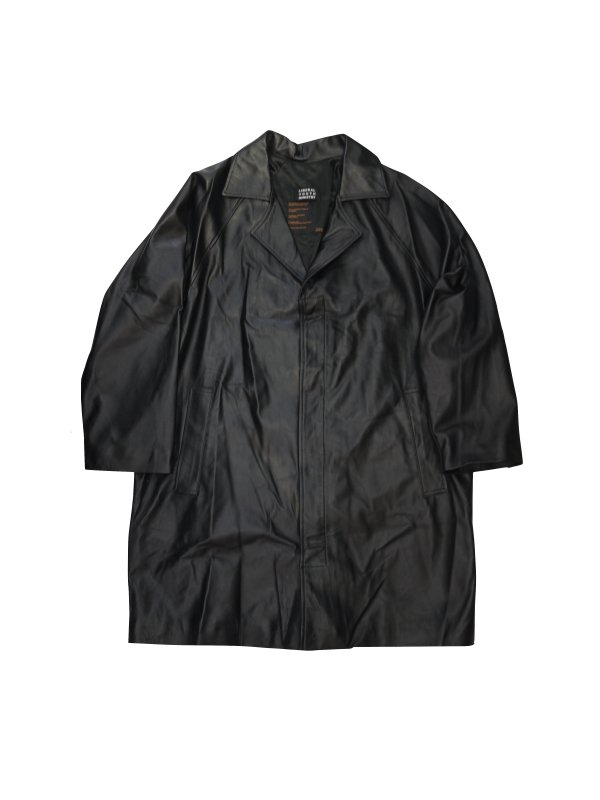 LIBERAL YOUTH MINISTRY LONDON LEATHER COAT