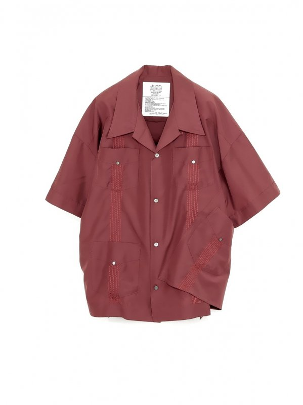 [30%OFF] elephant TRIBAL fabrics Out of alignment Cuban shirt (BOR)