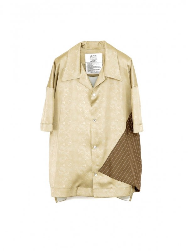 [30%OFF] elephant TRIBAL fabrics Out of alignment Resort shirt (BEI)