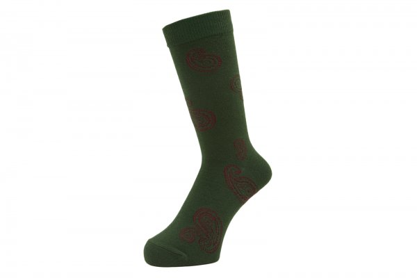 WHIMSY BIG PAISELY SOCKS (GRN)