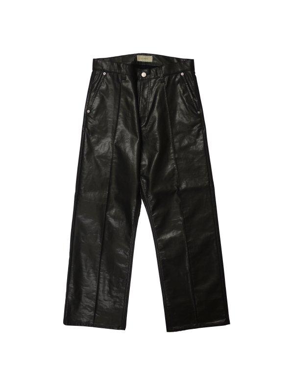 JieDa LAMINATE 5POCKET PANTS (BLK)