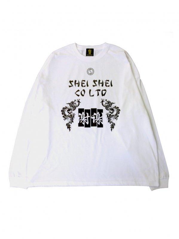 shei shei co.LTD SHEI SHEI DRAGON L/S TEE (WHT)