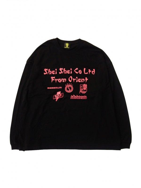 shei shei co.LTD SHEI SHEI FLYER L/S TEE (BLK)