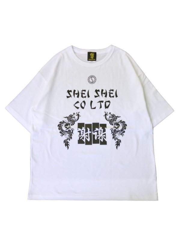 shei shei co.LTD SHEI SHEI DRAGON BIG TEE (WHT)