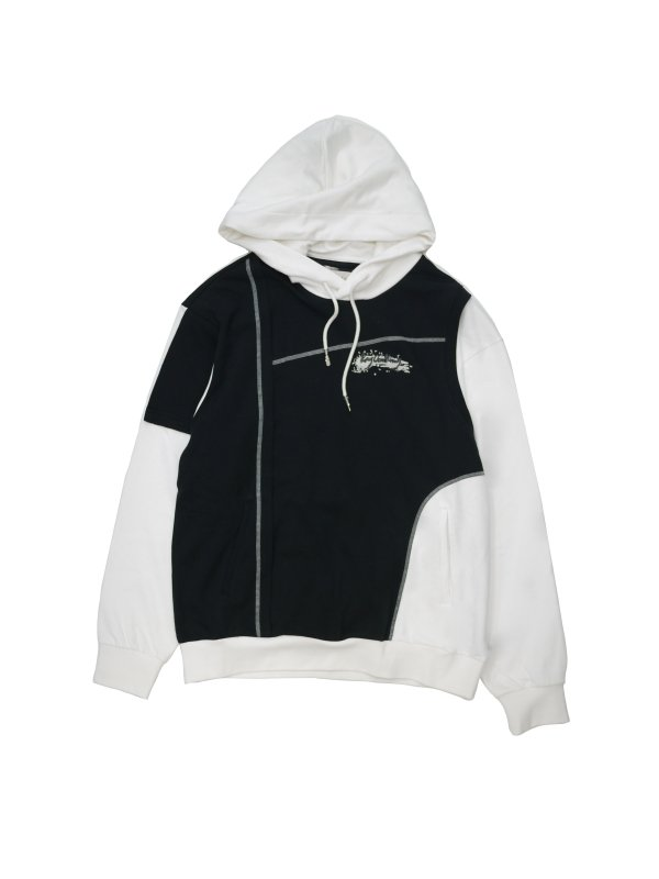 Feng Chen Wang FRENCH TERRY PANELLED HOODIE