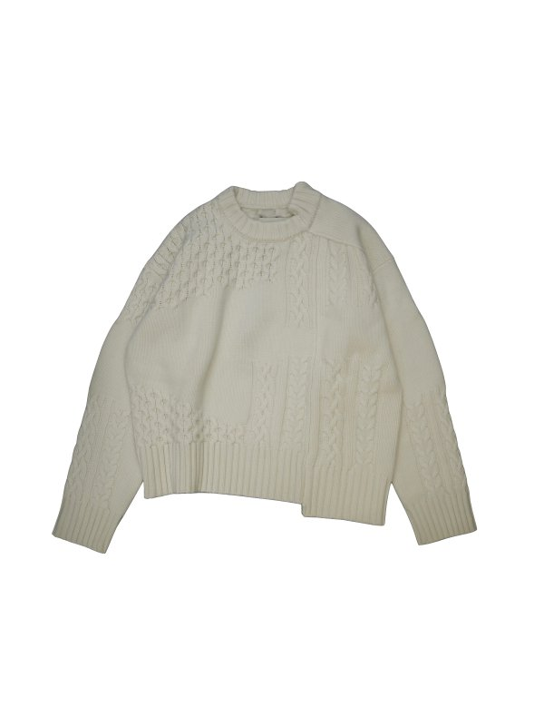Feng Chen Wang WOOL INTARSIA PULLOVER SWEATER