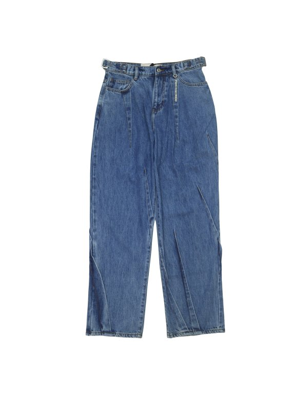 Feng Chen Wang DENIM PLEATED JEANS