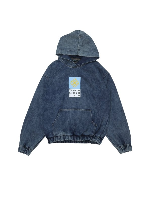 LIBERAL YOUTH MINISTRY TEMPLO LIBERTAD DENIM HOODIE