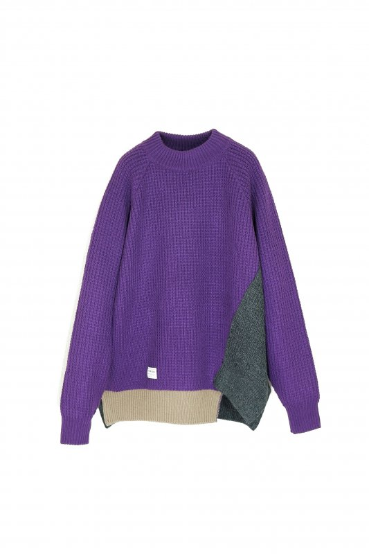 elephant TRIBAL fabrics Out of alignment knit (PUR)