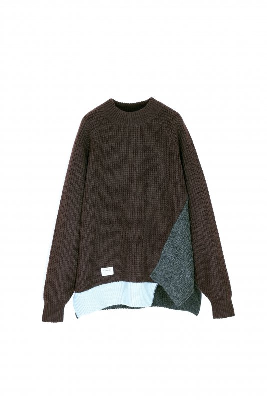 elephant TRIBAL fabrics Out of alignment knit (BRO)