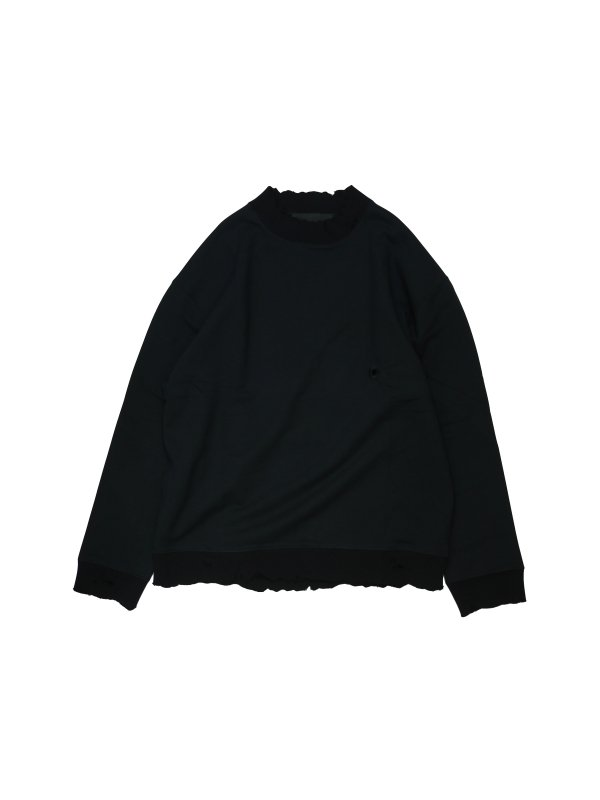 Louis Gabriel Nouchi SWEAT-SHIRT WITH BULLET HOLE EMBROIDERY