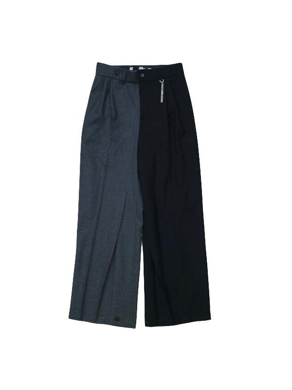 Feng Chen Wang WOOL BLEND CONTRAST COLOR SUIT PANTS