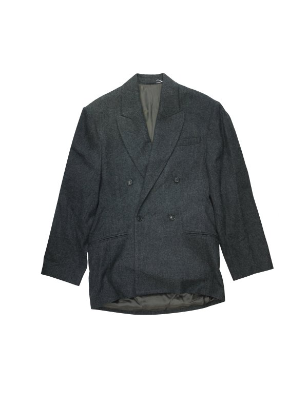 HED MAYNER DROPPED BACK DOUBLE BREASTED JACKET (GRY)