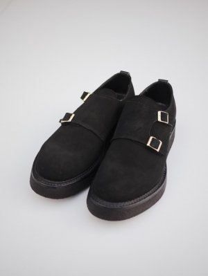 <img class='new_mark_img1' src='//img.shop-pro.jp/img/new/icons60.gif' style='border:none;display:inline;margin:0px;padding:0px;width:auto;' />KIDS LOVE GAITE DOUBLE MONK SUEDE SHOES (BLK)