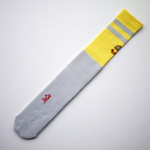 <img class='new_mark_img1' src='//img.shop-pro.jp/img/new/icons47.gif' style='border:none;display:inline;margin:0px;padding:0px;width:auto;' />JieDa HAMBURGER TUBE SOCKS (YEL)