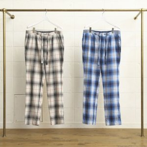 <img class='new_mark_img1' src='//img.shop-pro.jp/img/new/icons47.gif' style='border:none;display:inline;margin:0px;padding:0px;width:auto;' />UNUSED COTTON OMBRE CHECK PAJAMA PANTS