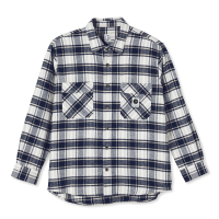 <img class='new_mark_img1' src='https://img.shop-pro.jp/img/new/icons8.gif' style='border:none;display:inline;margin:0px;padding:0px;width:auto;' />POLAR SKATE CO. - FLANNEL SHIRT (Navy) の商品画像