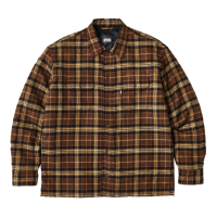 <img class='new_mark_img1' src='https://img.shop-pro.jp/img/new/icons8.gif' style='border:none;display:inline;margin:0px;padding:0px;width:auto;' />FTC - QUITED LINED PLAID NEL SHIRT (Brown)の商品画像