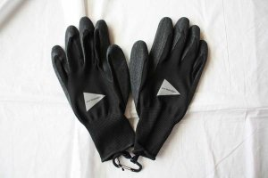 ■and wander アンドワンダー rubber glove ラバーグローブ