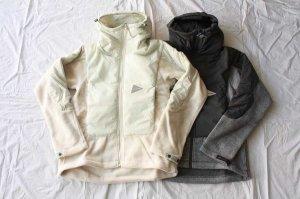 ■and wander アンドワンダー twill fleece jacket
