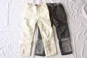 and wander アンドワンダー women's twill fleece pants [40%OFF]