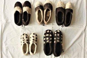 モロッコ  フェルトルームシューズ Morocco Felt Room Shoes