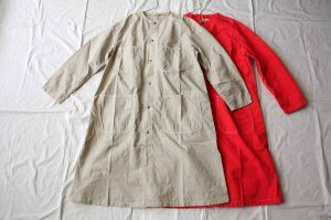 orslow オアスロー NO COLLAR SHOP COAT(UNISEX)