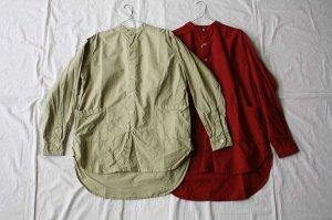 Yarmo ヤーモ  Band collar Shirts バンドカラーシャツ