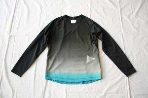 and wander アンドワンダー gradient color raglan long sleeveT  ラグランロングスリーブTシャツ
