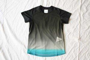 and wander アンドワンダー gradient color raglan short sleeve T  ラグランショートスリーブTシャツ