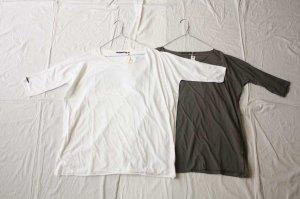 album di famiglia アルバム ディ ファミリア T-SHIRT JS ストレッチジャージー5分袖Tシャツ