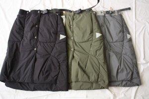 ■and wander アンドワンダー top fleece skirt フリーススカート