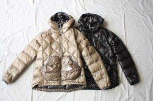 ■and wander アンドワンダー diamond stitch down jacket ダウンジャケット