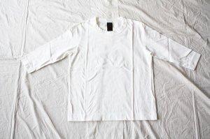 ■homspun ホームスパン 30/-天竺 七分袖Tシャツ col.サラシ [定番]