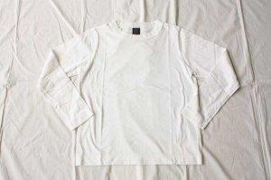 ■homspun ホームスパン 30/-天竺 長袖Tシャツ col/ サラシ [定番]