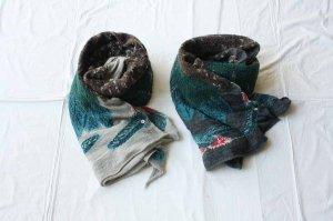 ■KAPITAL キャピタル 縮絨ウール大鷲マフラー