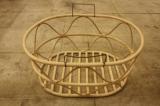 F/style  エフスタイル 籐の波型バスケット 楕円型