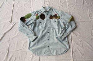 KAPITAL キャピタル  シャンブレーワークシャツ(サボテン刺しゅう)