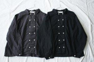 itiho イチホ  80ダブルガーゼ ダブルボタンシャツ